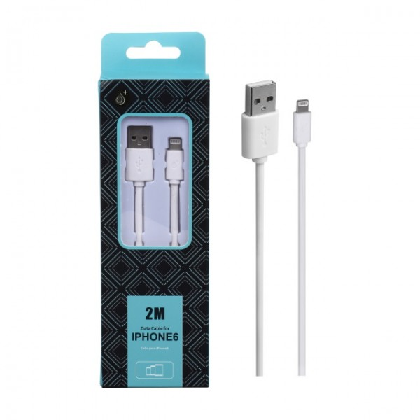 Datový kabel PLUS AA103 pro Apple iPhone5, 2M, white