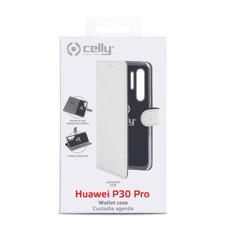 CELLY Wally flipové pouzdro pro Huawei P30 Pro, bílé