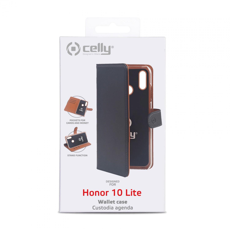 CELLY Wally flipové pouzdro pro Honor 10 Lite, černé