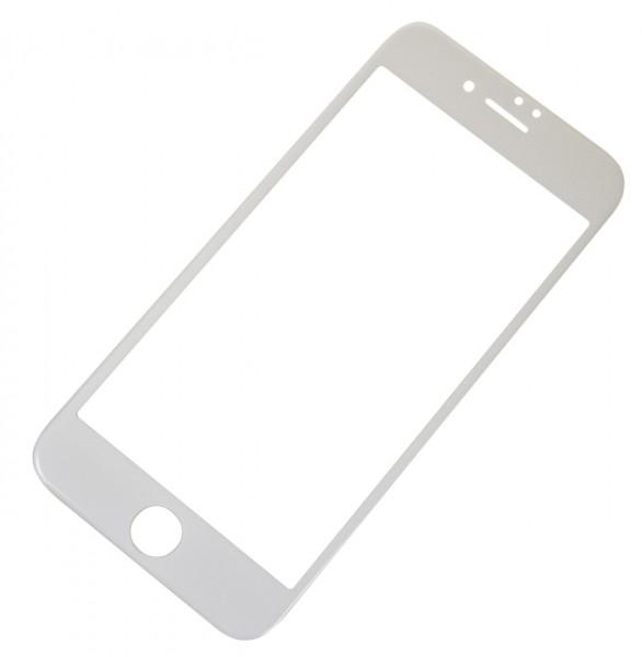 Tvrzené sklo CARBON FIBER GLASS pro Apple iPhone 6/6S, White