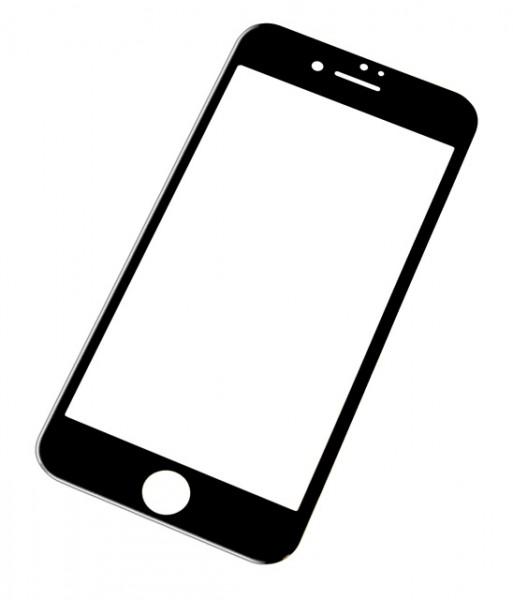 Tvrzené sklo CARBON FIBER GLASS pro Apple iPhone 6/6S, Black