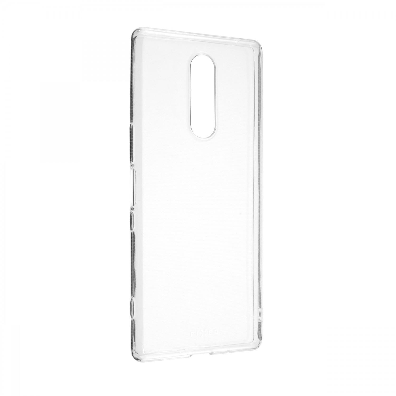 Ultratenké silikonové pouzdro FIXED Skin pro Sony Xperia 1, transparentní