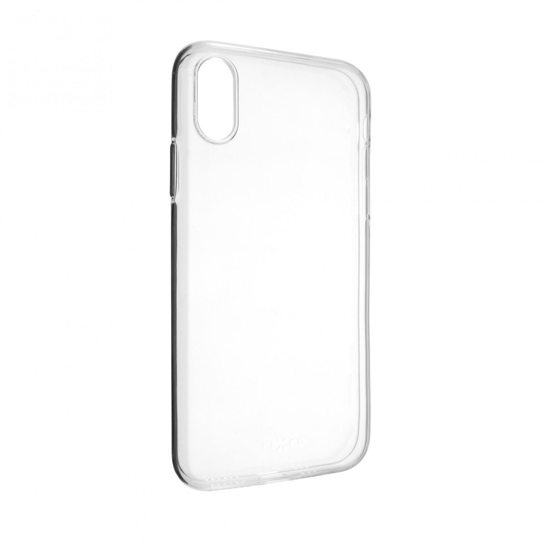 Ultratenké TPU gelové pouzdro FIXED Skin pro Apple iPhone XS, transparentní