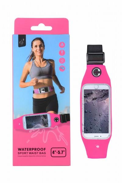 Pouzdro PLUS J7043 pásek na běhání vel L (6''), nepromokavé, Pink