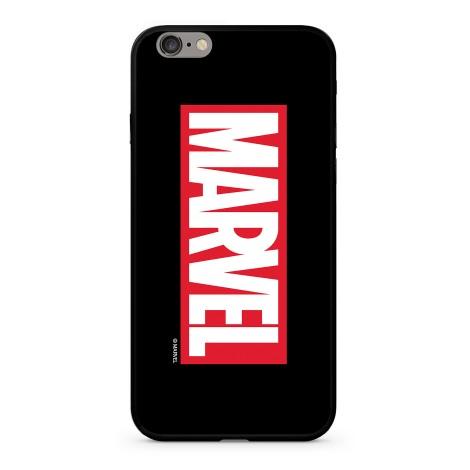 Zadní kryt Marvel 005 Premium Glass pro Apple iPhone 6/6S Plus, black