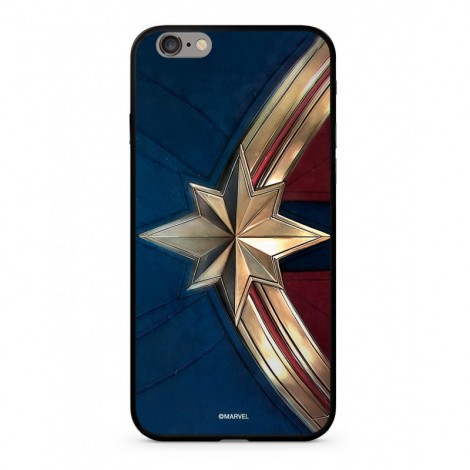 Zadní kryt Marvel Captain Marvel 005 Premium Glass pro Apple iPhone XS, blue