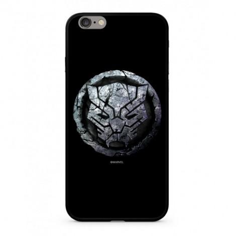 Zadní kryt Marvel Black Panther 015 Premium Glass pro Apple iPhone 6/6S Plus, black
