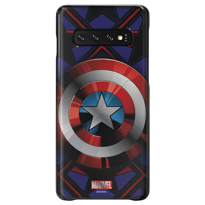Zadní kryt Marvel Captain America x Galaxy Friends Samsung Galaxy S10