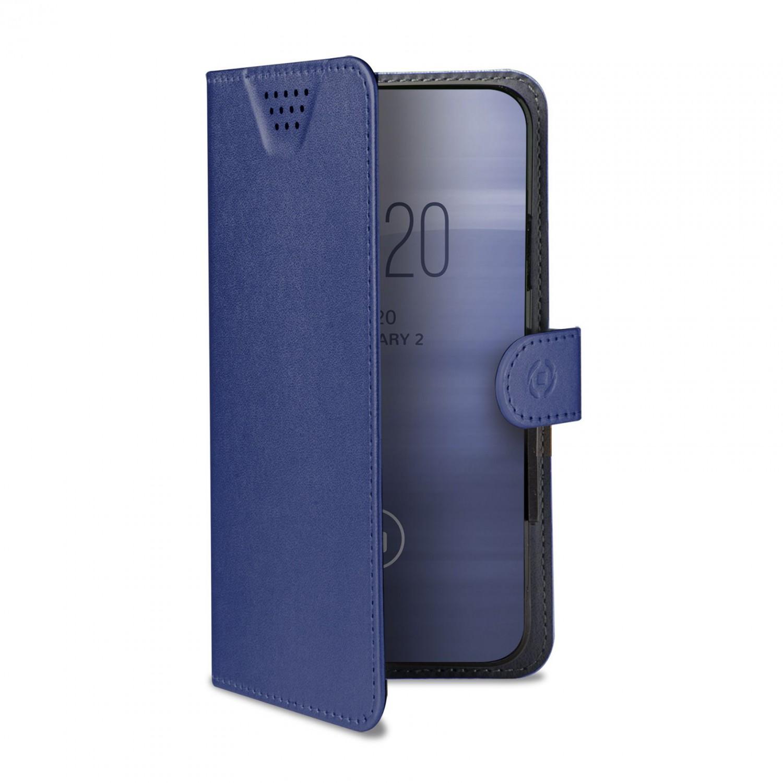 """CELLY Wally One univerzální flipové pouzdro velikost XXL pro 5.0"""" - 5.5"""", modré"""