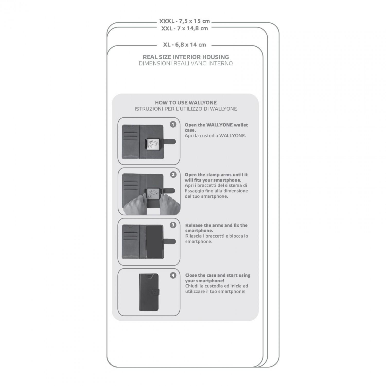 """CELLY Wally One univerzální flipové pouzdro velikost XXL pro 5.0"""" - 5.5"""", černé"""