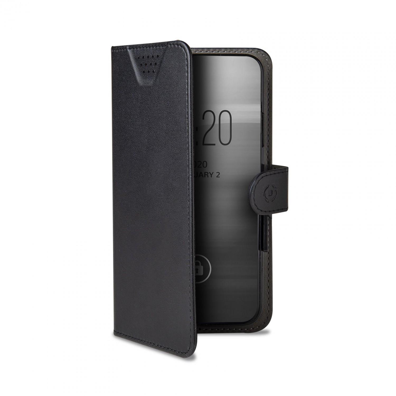 """CELLY Wally One univerzální flipové pouzdro velikost XL pro 4.5"""" - 5.0"""", černé"""