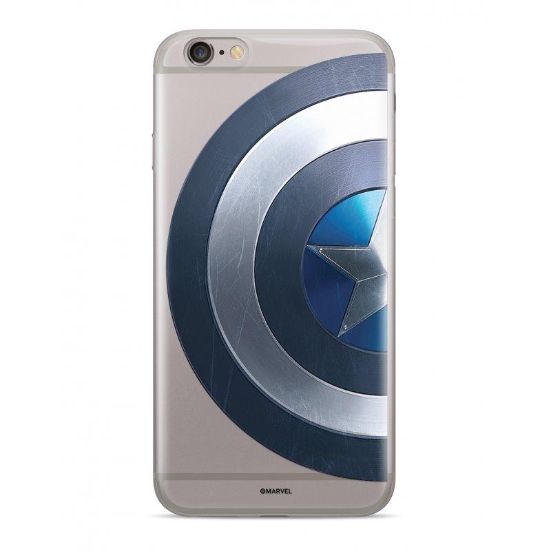 Zadní kryt Marvel Captain America 006 pro Samsung Galaxy A7 2018, transparent