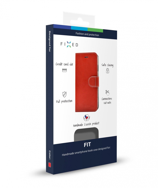 FIXED FIT flipové pouzdro pro Xiaomi Redmi Note 6 Pro, červené