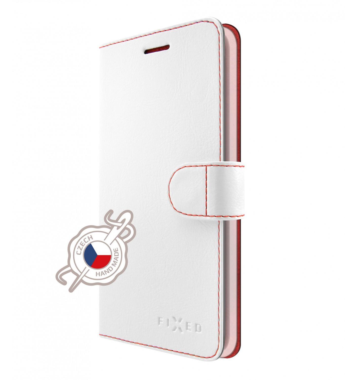 FIXED FIT flipové pouzdro pro Samsung Galaxy A7 2018, bílé