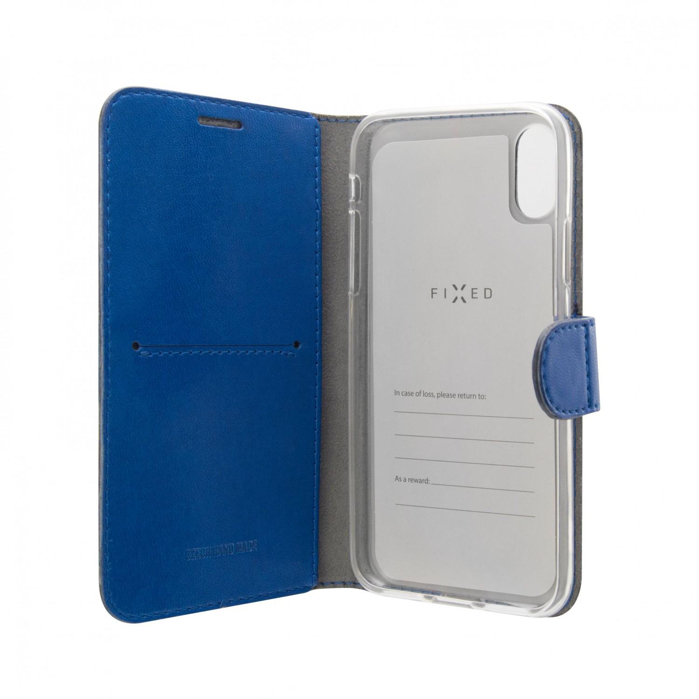 FIXED FIT SHINE flipové pouzdro pro Huawei P20 Lite, modré
