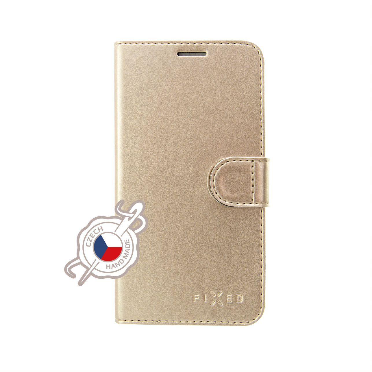 FIXED FIT Shine flipové pouzdro pro Huawei P30, zlaté