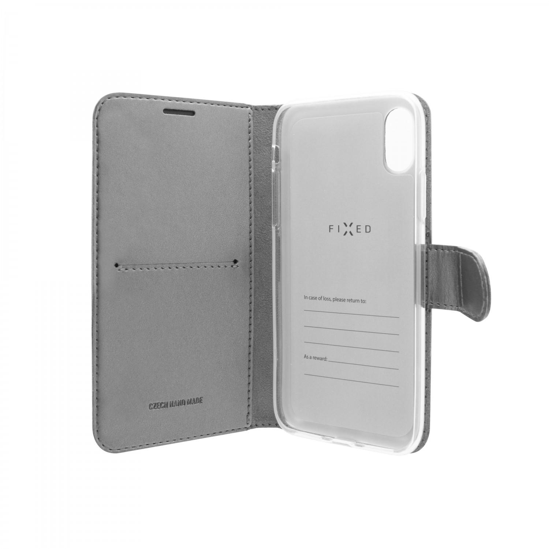 FIXED FIT SHINE flipové pouzdro pro Huawei P30 Lite, antracitové
