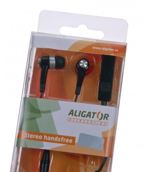 Sluchátka Hands Free stereo ALIGATOR PRO, Apple iPhone