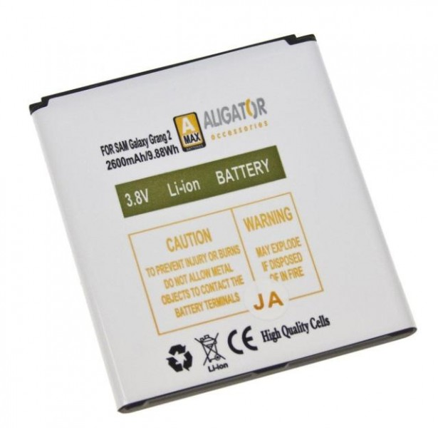 Baterie ALIGATOR pro Samsung Galaxy Grand 2, Li-Ion 2600 mAh, nahrazuje EB-B220AEBE