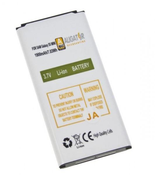 Baterie ALIGATOR pro Samsung Galaxy S5 Mini, Li-ION 1900 mAh, nahrazuje EB-BG800BB