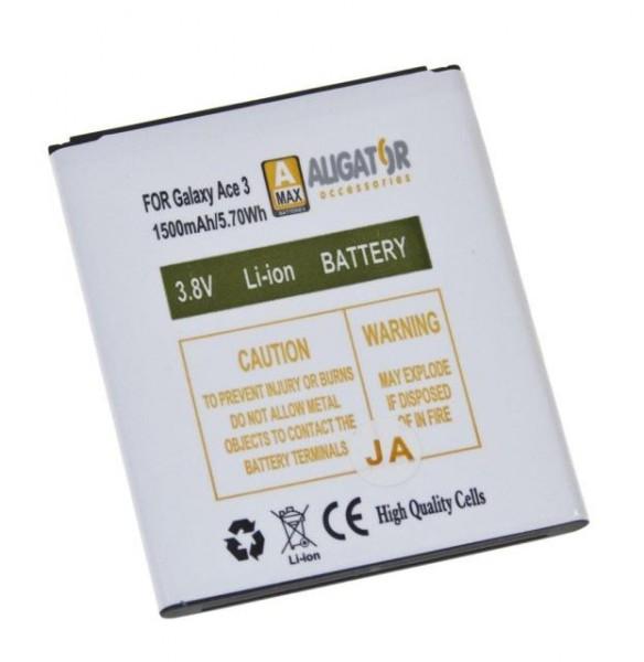 Baterie ALIGATOR pro Samsung Galaxy Ace 3, Li-Ion 1500 mAh, nahrazuje EB-B105BE