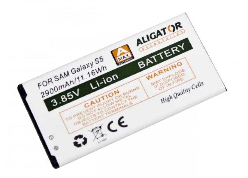 Baterie ALIGATOR pro Samsung Galaxy S5, Li-ION 2900 mAh, nahrazuje EB-BG900BB