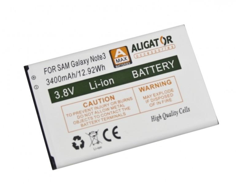 Baterie ALIGATOR pro Samsung Galaxy Note 3, Li-Ion 3400 mAh, nahrazuje EB-B800BEB