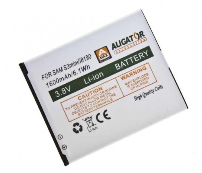 Baterie ALIGATOR pro Samsung Galaxy S3 Mini, Li-ION 1600 mAh, nahrazuje EB-F1M7FLU