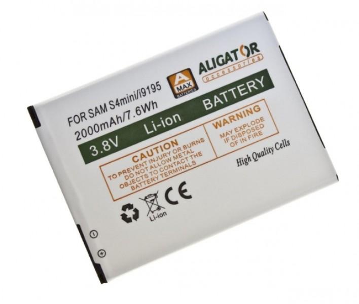 Baterie ALIGATOR pro Samsung Galaxy S4 Mini, Li-ION 2000 mAh, nahrazuje EB-B500BE