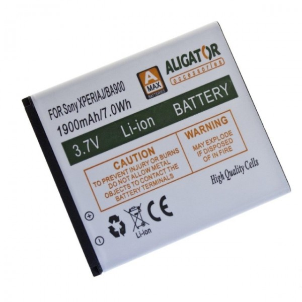Baterie ALIGATOR pro Sony Xperia J, LI-ION 1900 mAh, nahrazuje BA900