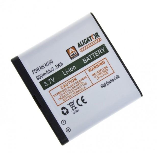 Baterie ALIGATOR pro Nokia 700, Li-ION 900 mAh, nahrazuje BP-5Z