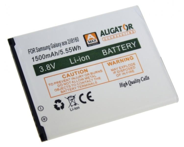 Baterie ALIGATOR pro Samsung Galaxy Ace 2, Li-ION 1500 mAh, nahrazuje EB425161LU