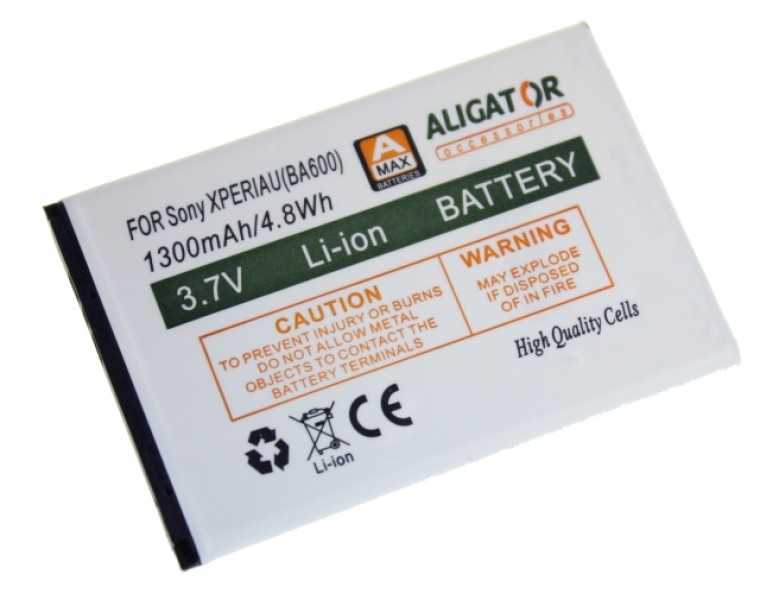 Baterie ALIGATOR pro Sony Xperia U, LI-ION 1300 mAh, nahrazuje BA600