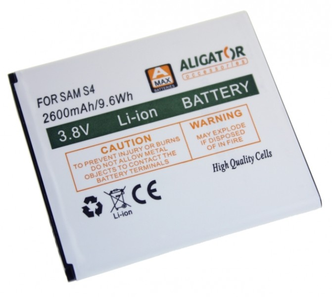 Baterie ALIGATOR pro Samsung Galaxy S4, Li-ION 2600 mAh, nahrazuje EB-B600BE