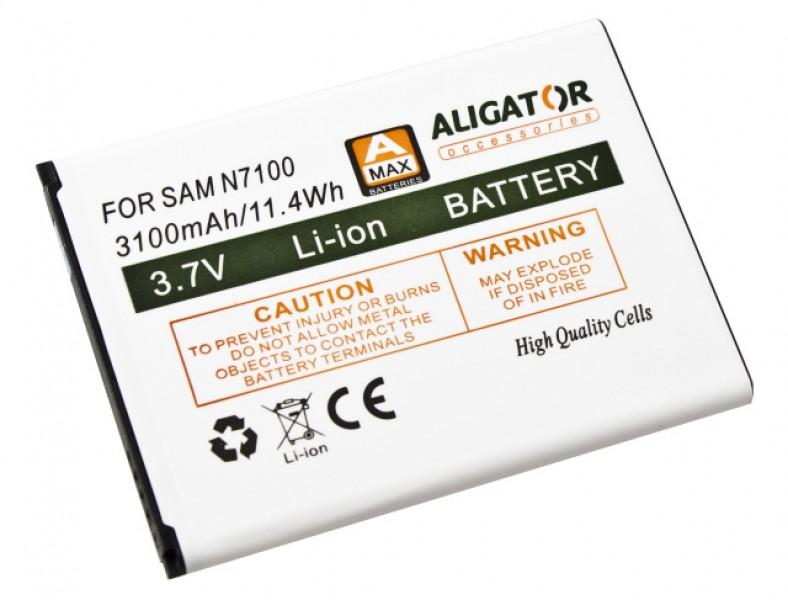Baterie ALIGATOR pro Samsung Galaxy Note 2, Li-Ion 3100 mAh, nahrazuje EB595675LU