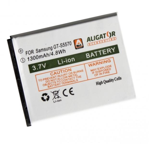 Baterie ALIGATOR pro Samsung Galaxy mini, Li-ION 1300 mAh, kompatibilní, nahrazuje EB494353VU