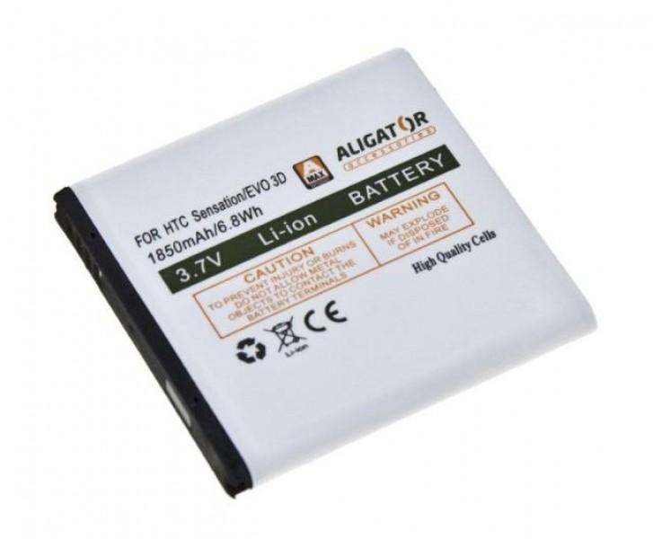 Baterie Aligator pro HTC EVO 3D, Li-ION 1850 mAh, nahrazuje BA S590