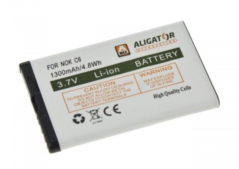Baterie Aligator pro Nokia C6-00, Li-ION 1300 mAh, kompatibilní, nahrazuje BL-4J
