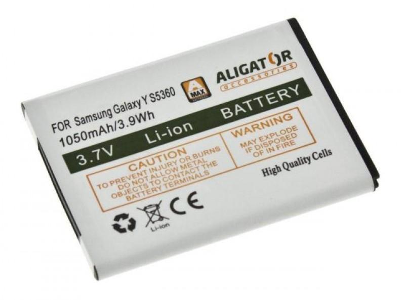 Baterie Aligator pro Samsung Galaxy Y, Li-ION 1050 mAh, kompatibilní, nahrazuje EB454357VU