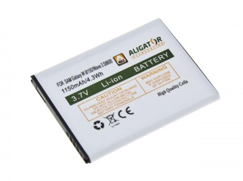 Baterie Aligator pro Samsung Galaxy Wave III, Li-ION 1450 mAh, kompatibilní, nahrazuje EB484659VU