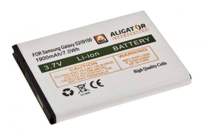 Baterie Aligator pro Samsung Galaxy S2, Li-ION 1900 mAh, kompatibilní