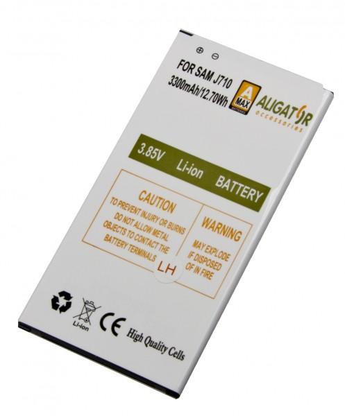 Baterie Aligator pro Samsung Galaxy J7 2016, Li-Ion 3300 mAh, kompatibilní, nahrazuje EB-BJ710CBE