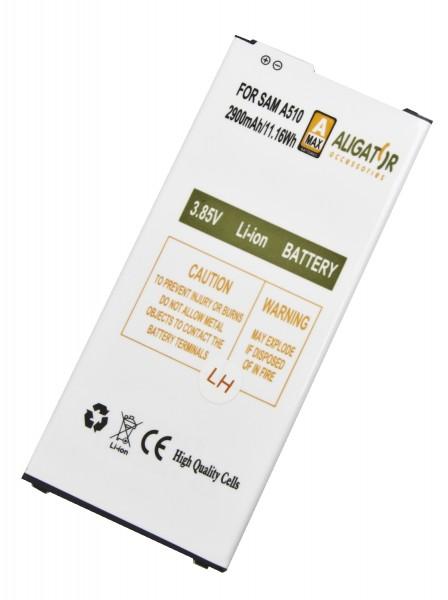 Baterie Aligator pro Samsung Galaxy A5 2016, Li-Ion 2900 mAh, kompatibilní, nahrazuje EB-BA510ABE