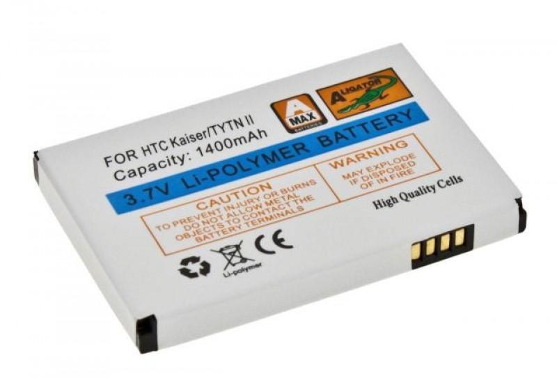 Baterie Aligator pro HTC TyTN II/Kaiser/P4550 MDA Vario III, Li-POL 1400 mAh, kompatibilní