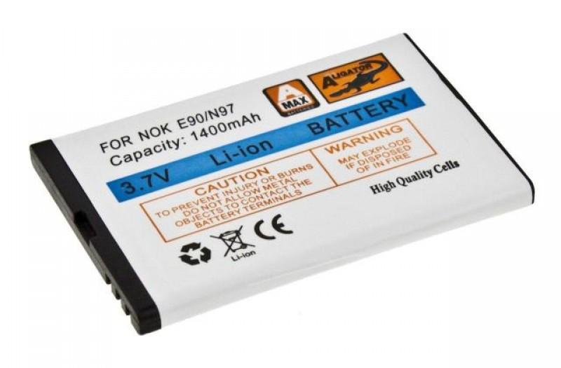 Baterie Aligator pro Nokia E61i/E90/E71/E52 Comm/N97, Li-ION 1400 mAh, nahrazuje BP-4L