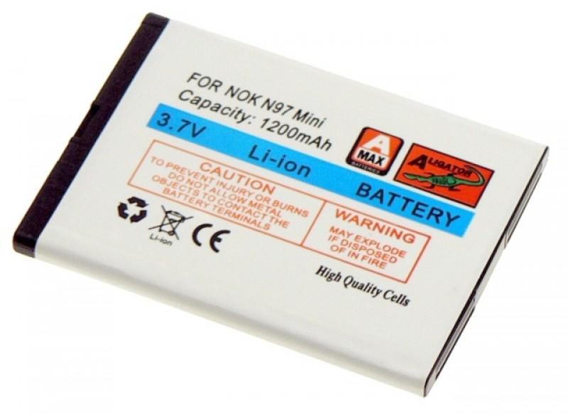 Baterie Aligator pro Nokia N97 Mini/E5/N8, Li-ION, 1200 mAh, nahrazuje BL-4D