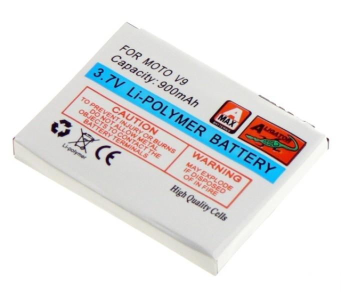 Baterie Aligator pro Motorola V9, Li-POL 900 mAh, kompatibilní, nahrazuje BX50