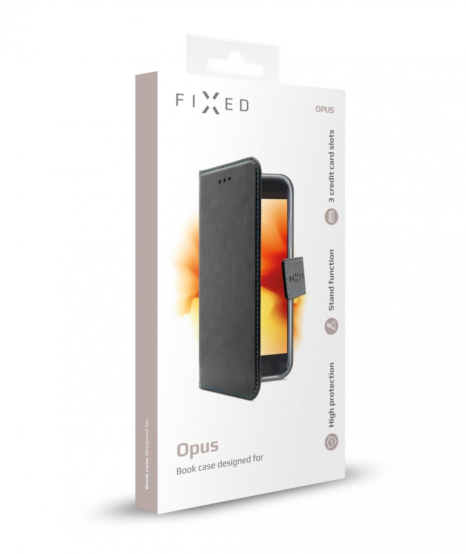 FIXED Opus flipové pouzdro pro Apple iPhone XS, černé