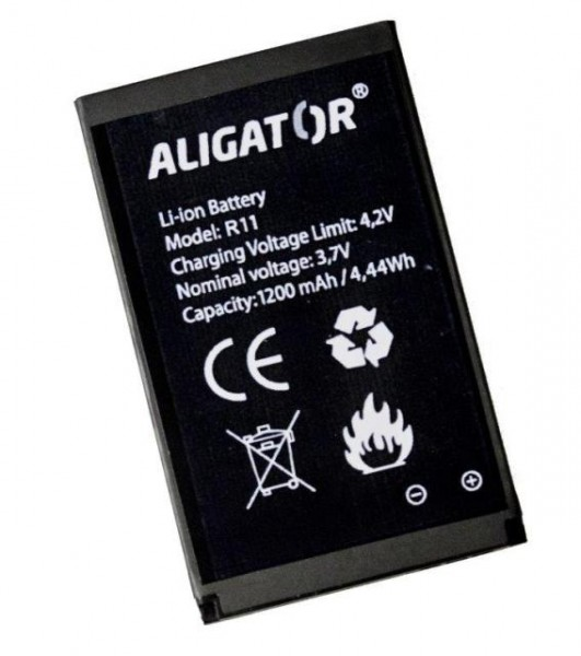 Baterie ALIGATOR R11 eXtremo, Li-Ion 1200 mAh, originální