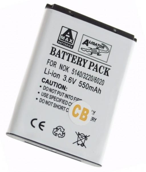 Baterie Aligator pro Nokia 3220/3230/5140/7260, Li-ION, 700 mAh, kompatibilní, nahrazuje BL-5B